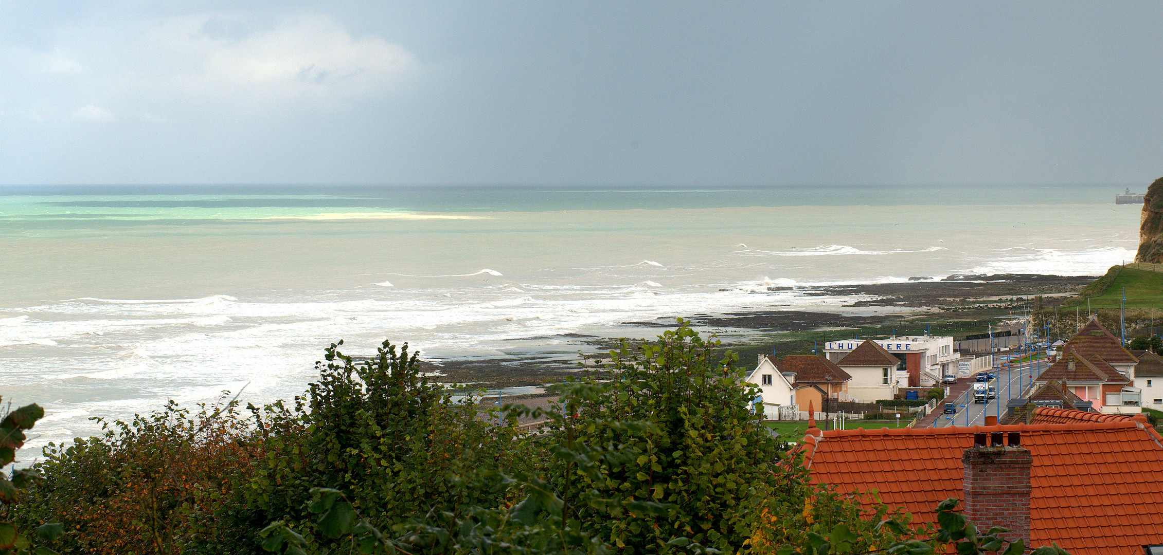 Raue See an der Küste von Pourville ( Dieppe )