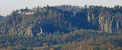 Rauenstein in der Sächsischen Schweiz mit dem vielen auf und ab...