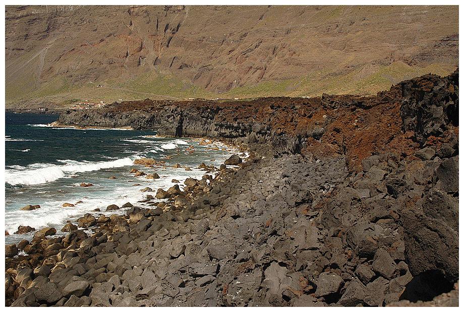 Rauhe Küste und Napfschnecken