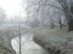 Rauhreif-Landschaft