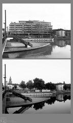 Raum und Ort. Heilbronn die Inselspitze und der Neckar - und das neue MarraHaus