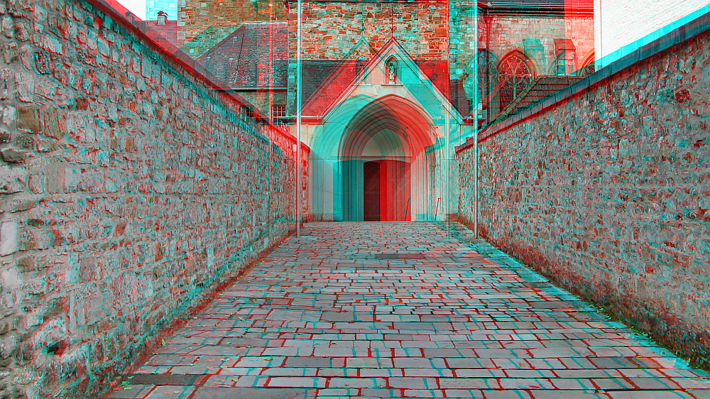 raumbild mit tiefenverlauf 3d bild mit rot cyan brille betrachten foto bild. Black Bedroom Furniture Sets. Home Design Ideas
