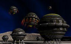 Raumhafen mit Kugelraumern