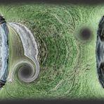 Raumkrümmung mit Wurmloch