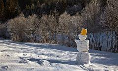 Raureif mit altem Schneemann!