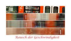 Rausch der Geschwindigkeit in 4 Stufen -S Bahn München-