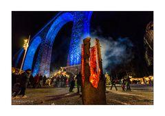 Ravennaschlucht Blau und Rot