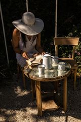 Reading at tea time