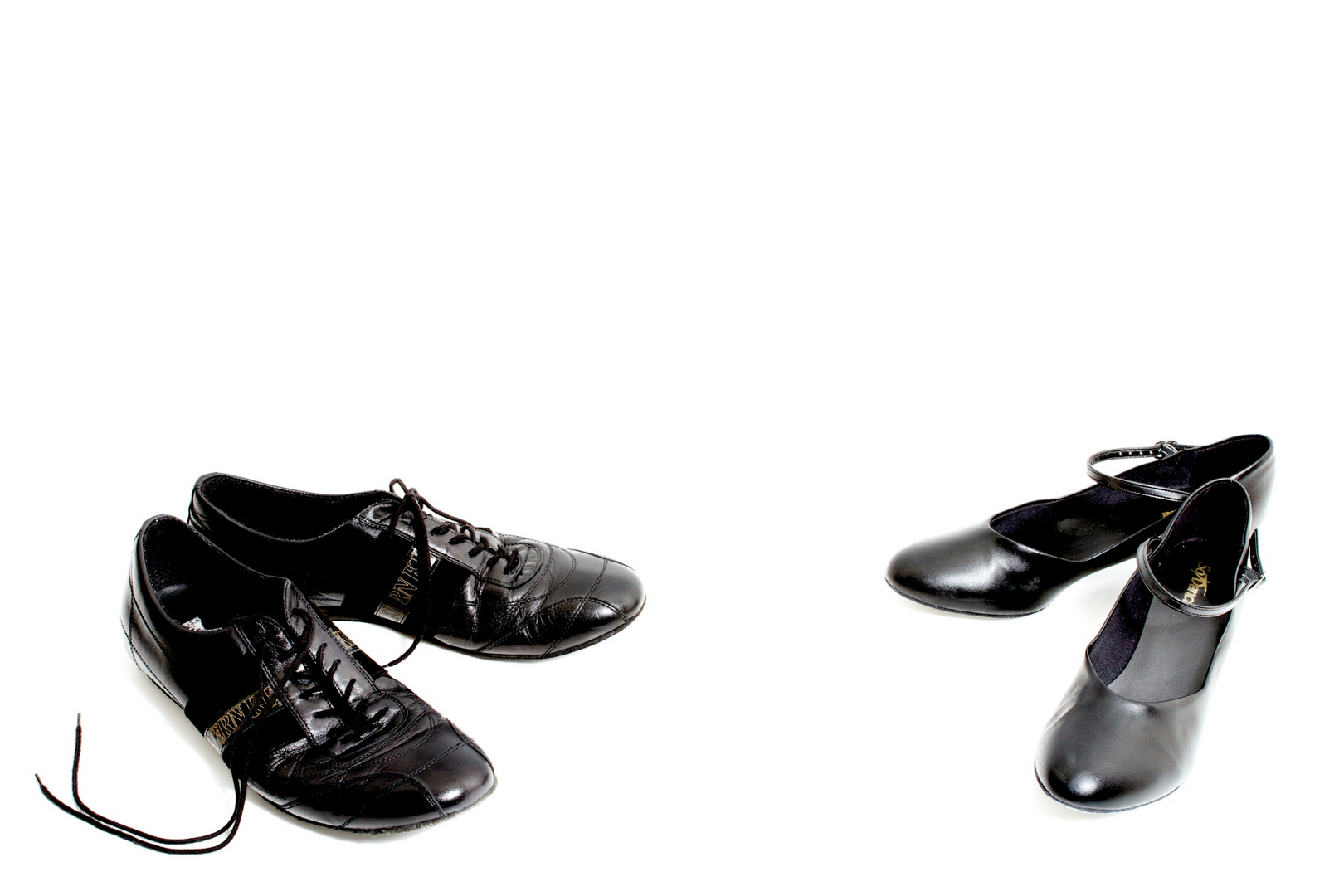 Ready to dance - still life of dancing shoes