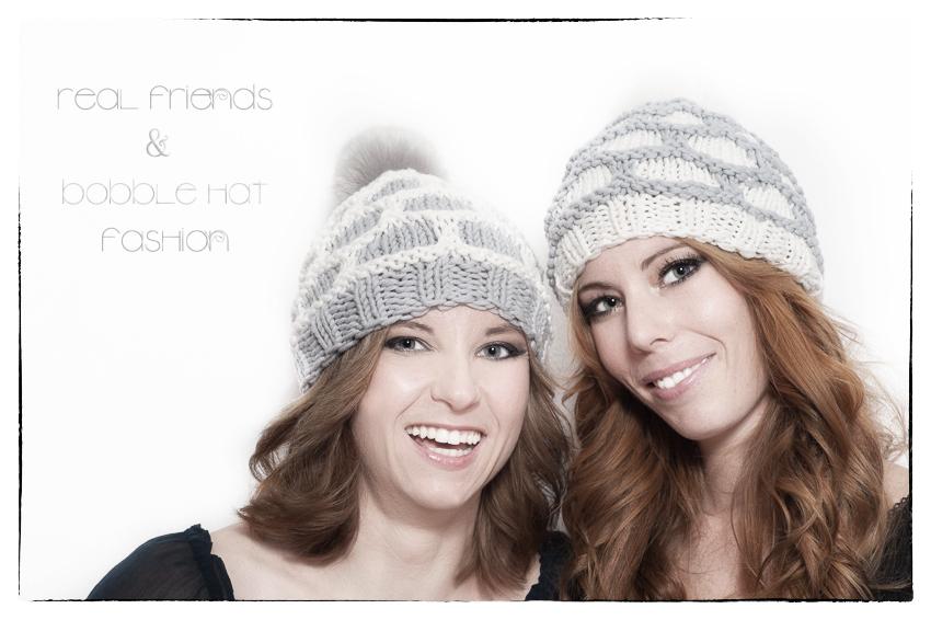 real friends & bobble hat fashion