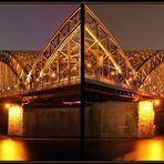 Rechts und links der Brücke...