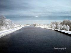 Recke Mittellandkanal - Blick auf die Kowallbrücke