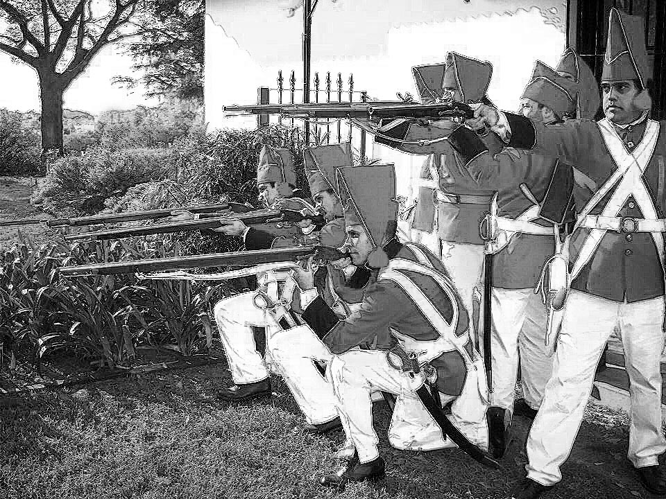 recreacion historica de combate siglo XIX