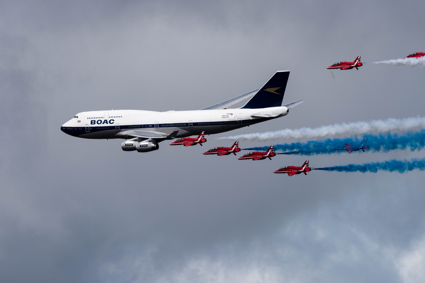 RED ARROWS BOAC 747