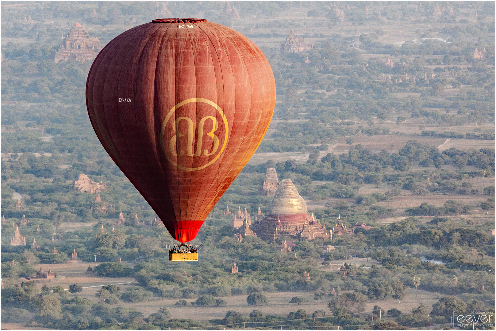 Red Balloon over Bagan