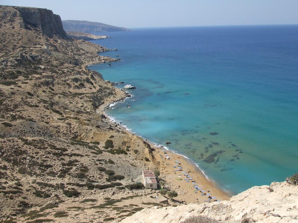 red beach en crète