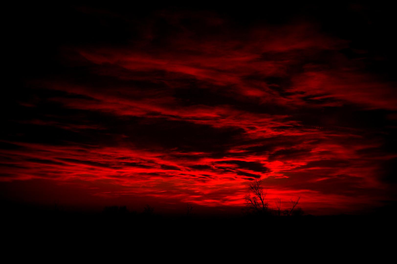 Red & Black Sunset