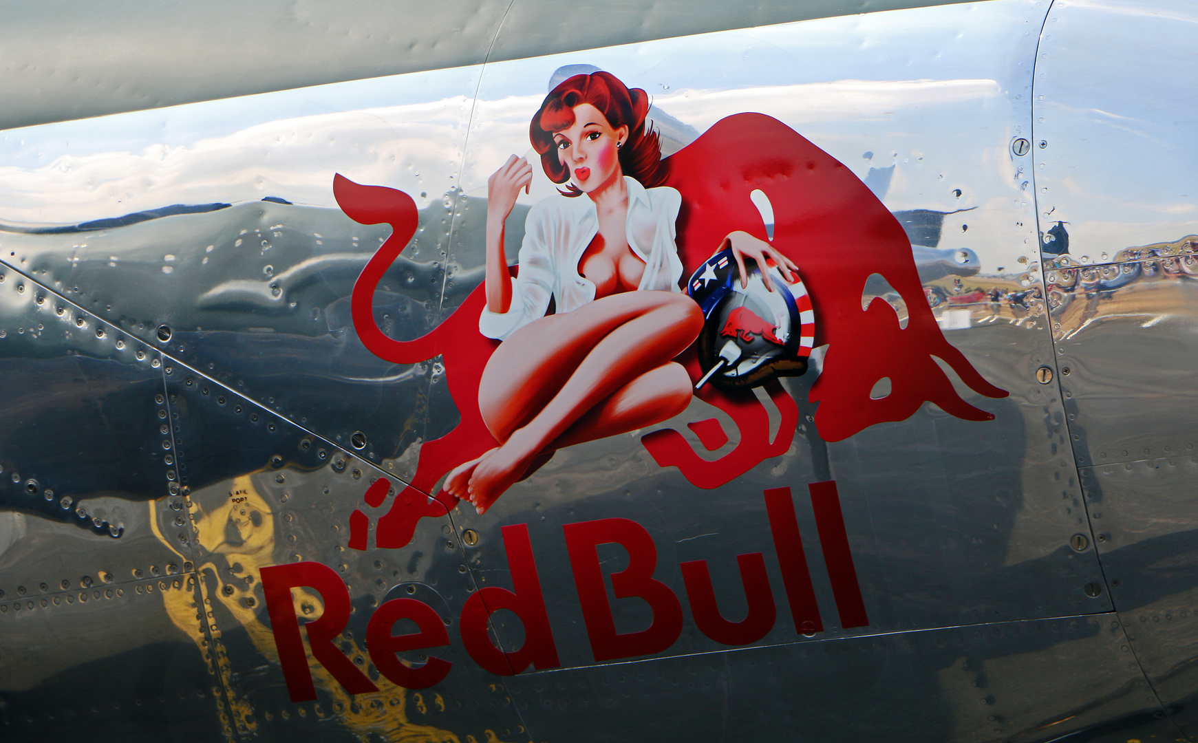 RED BULL PIN UP GIRL