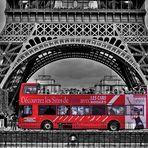 ***Red Bus in Paris***