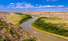 Red Deer River bei Drumheller, Alberta, Kanada