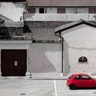 red KA parking...