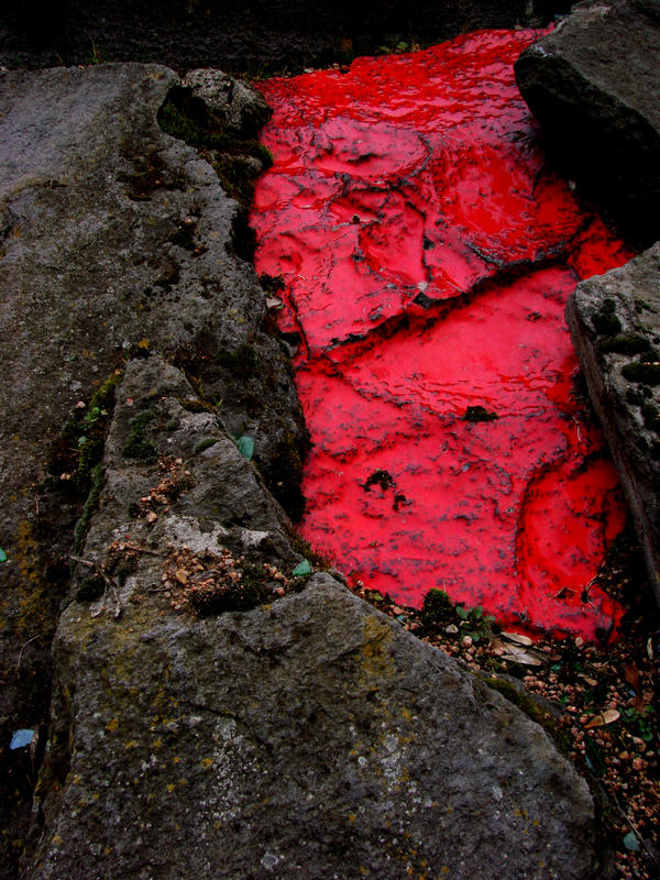 Red metalic Stone
