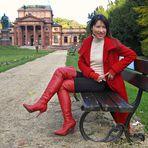 Red Overknee Boots