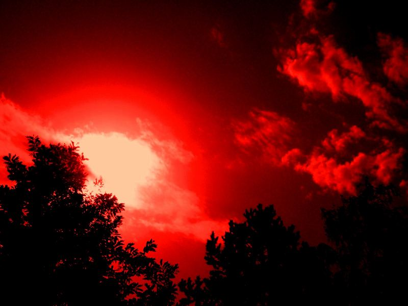 red red sky