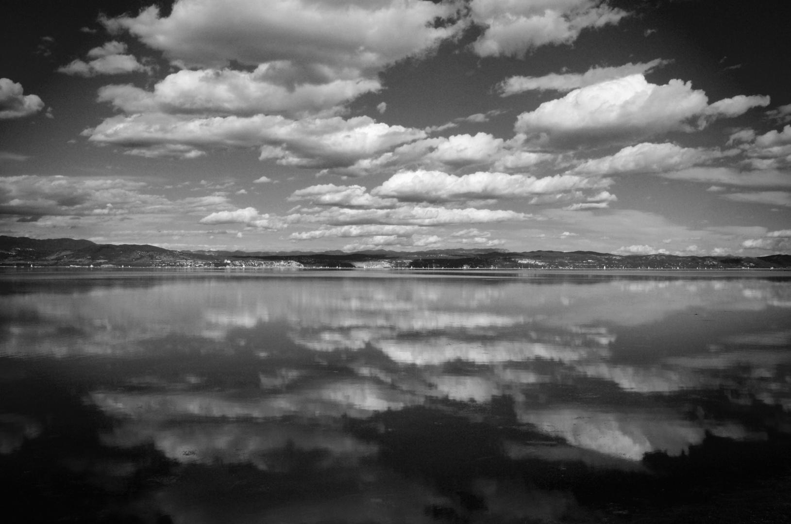 Reflected skies - Black & White version