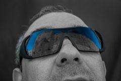 reflejos en azul