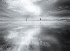 Reflejos en la playa