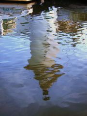 reflet du vieux phare de viareggio