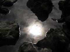 ..Reflets du soir à marée basse..