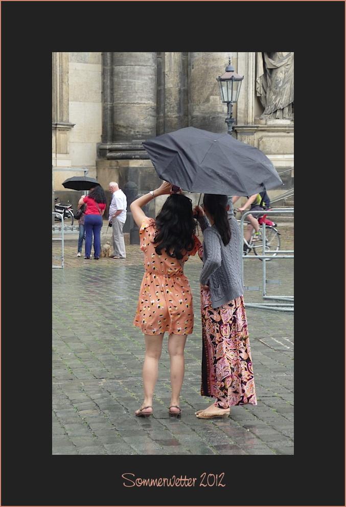 Regen? Ach was.. das ist nur auffrischende Feuchtigkeit....