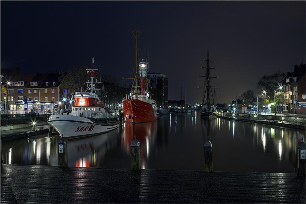 Regen am Delft von Emden