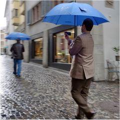 Regen hindert Fotografen nicht