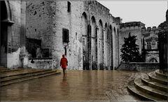 Regen in Avignon (Negativ-Scan)