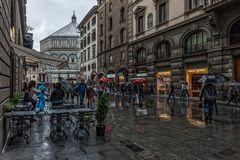 Regen in Florenz