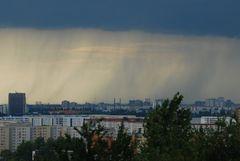 Regen über der Hauptstadt