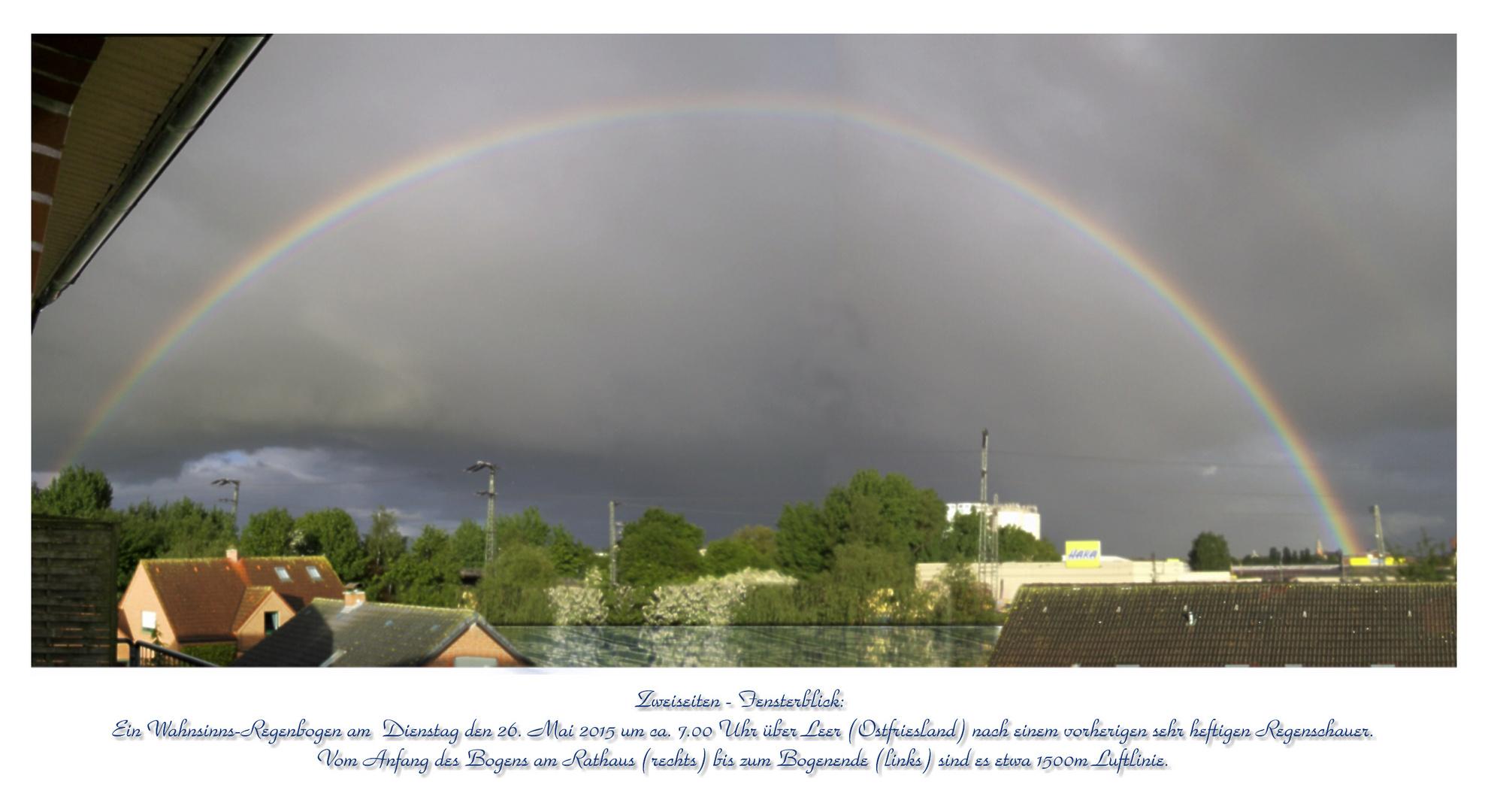 Regenbogen 1v5 Am 26mai 2015 Morgens 7 Uhr über Leer Foto