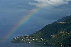 Regenbogen am Lago Maggiore