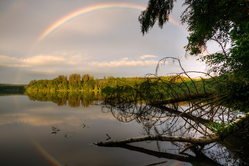 Regenbogen an der Möhne