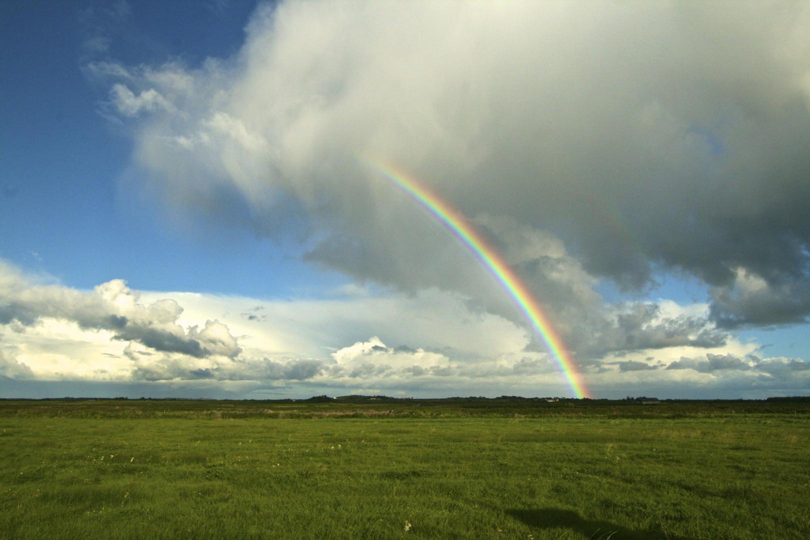 Regenbogen bei Loops Head Irland