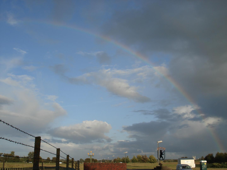 Regenbogen beim Fliegerhorst Jagel
