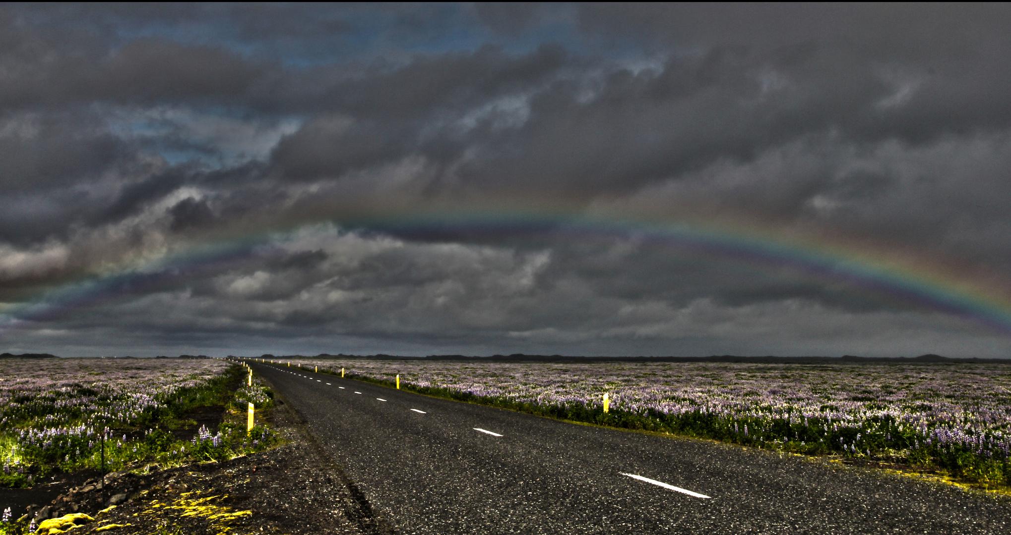 Regenbogen bringt Segen für Autofahrer