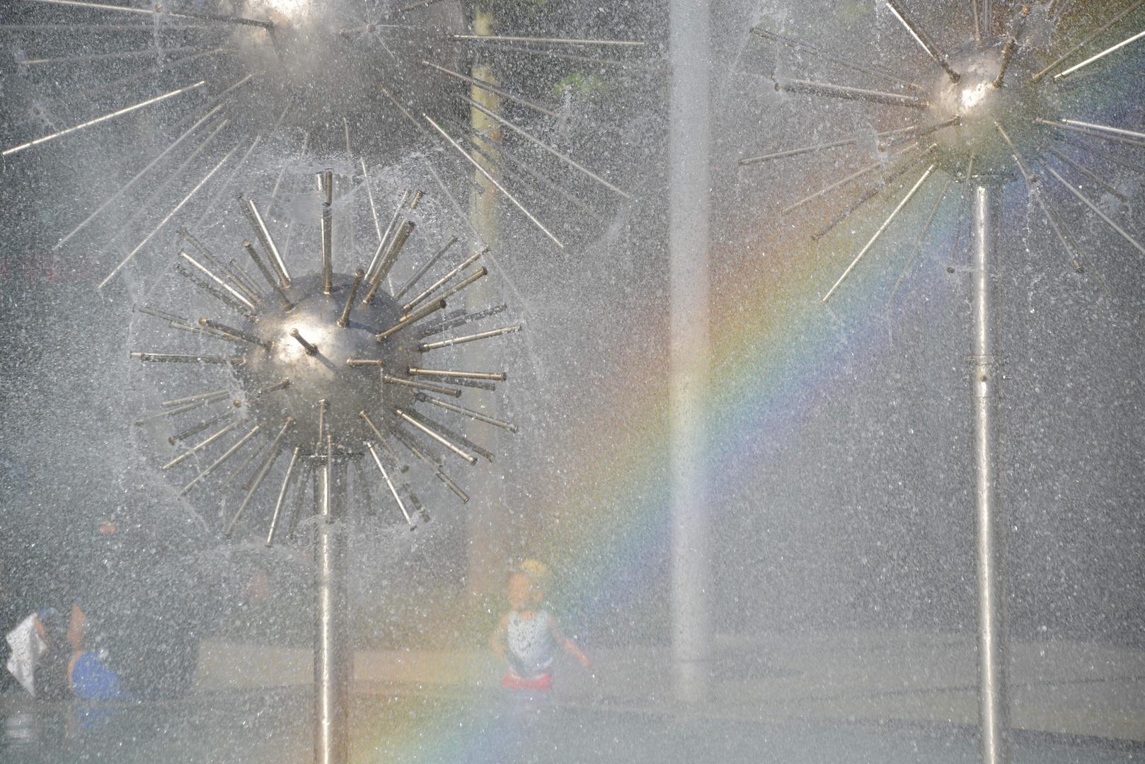 Regenbogen -Brunnen