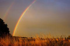 Regenbogen heute abend