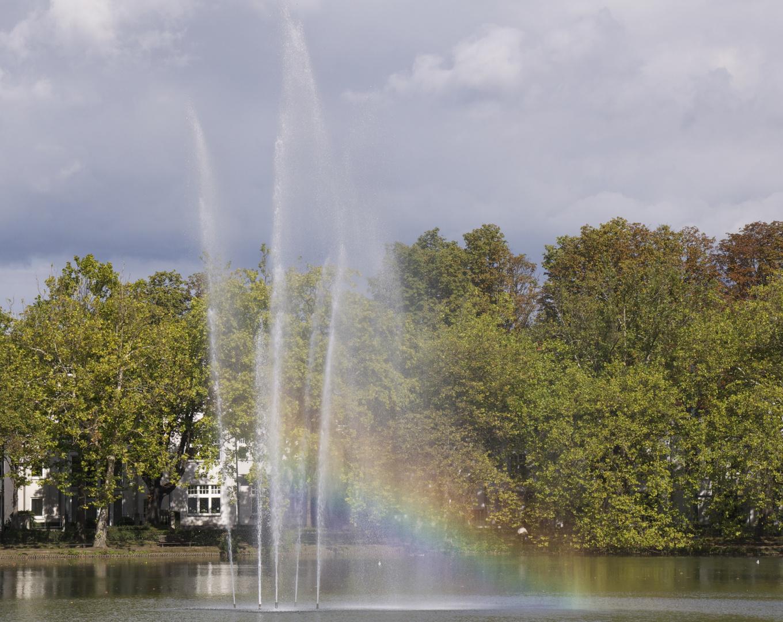 Regenbogen im Park