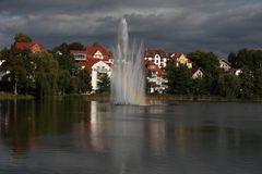 Regenbogen im Springbrunnen