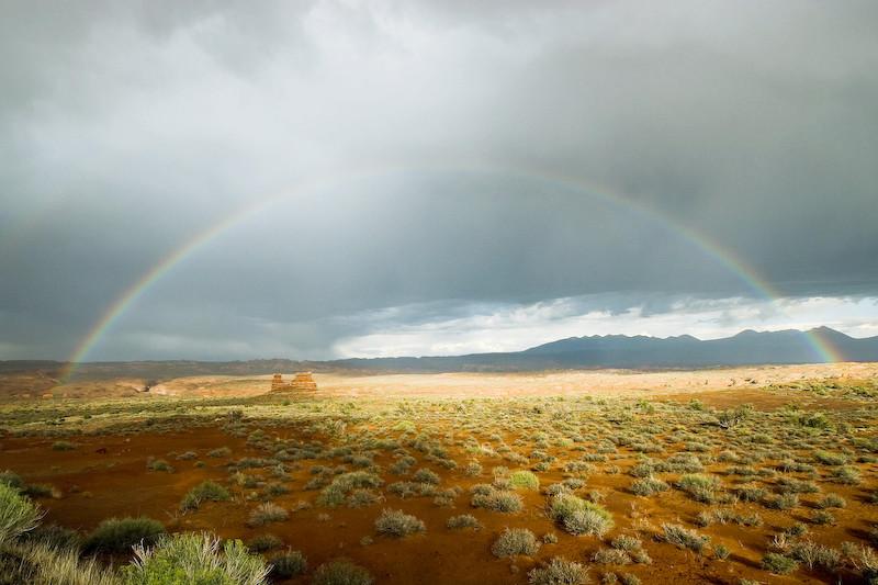 Regenbogen in Arches National Park, UT